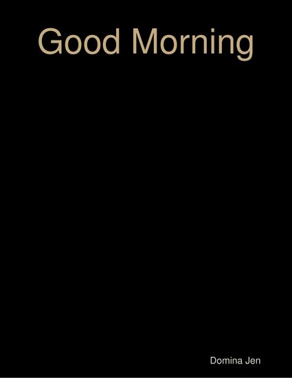 Good Morning - cover