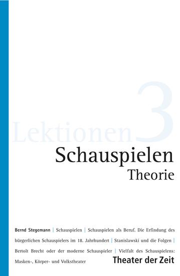 Schauspielen - Theorie - cover