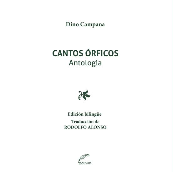 Cantos órficos - cover
