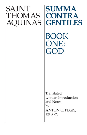 Summa Contra Gentiles - Book One: God - cover