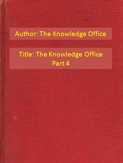 The Knowledge Office Part 4 - cover
