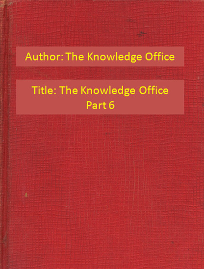 The Knowledge Office Part 6 - cover