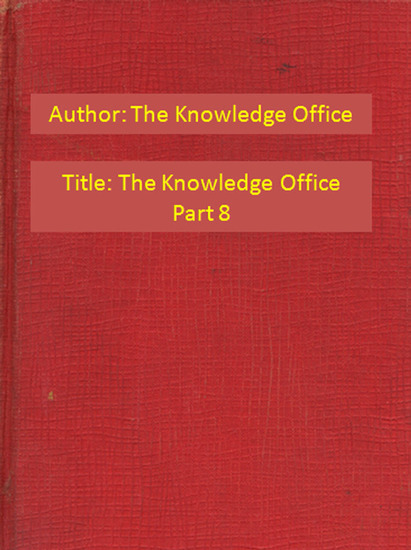 The Knowledge Office Part 8 - cover