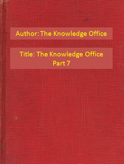 The Knowledge Office Part 7 - cover