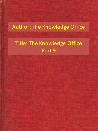 The Knowledge Office Part 9 - cover