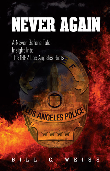 Never Again - A Never Before Told Insight into the 1992 Los Angeles Riots - cover
