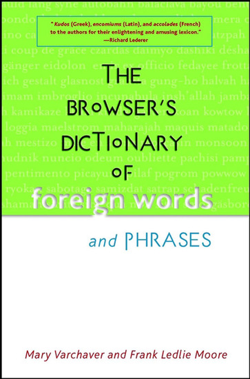 The Browser's Dictionary of Foreign Words and Phrases - cover