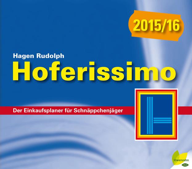 Hoferissimo 2015y16 - Der Einkaufsplaner für Schnäppchenjäger - cover