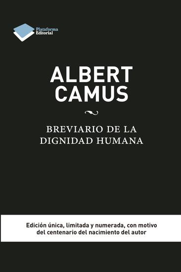 Albert Camus Brevario de la dignidad humana - cover