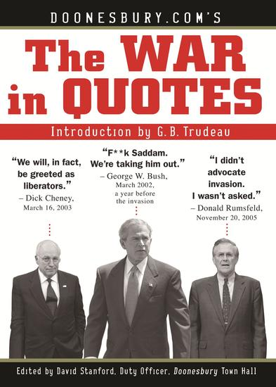 Doonesburycom's The War in Quotes - cover