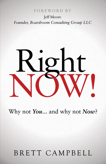 Right Now! - Why Not You and Why Not Now? - cover