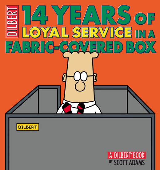 14 Years of Loyal Service in a Fabric-Covered Box - A Dilbert Book - cover