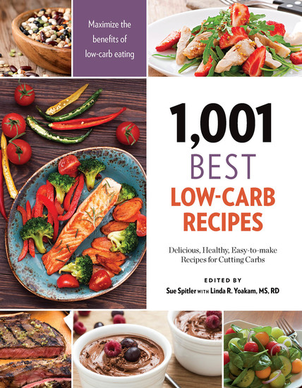 1001 Best Low-Carb Recipes - Delicious Healthy Easy-to-make Recipes for Cutting Carbs - cover