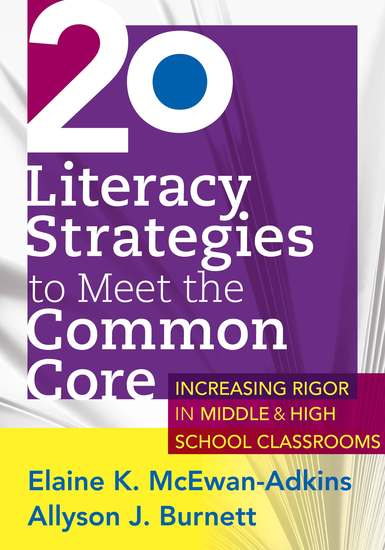 20 Literacy Strategies to Meet the Common Core - Increasing Rigor in Middle & High School Classrooms - cover