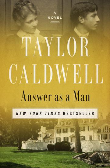 Answer as a Man - A Novel - cover