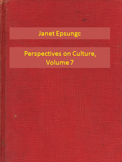Perspectives on Culture Volume 7 - cover