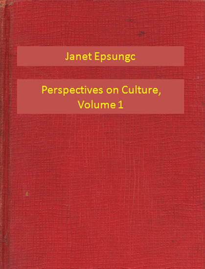 Perspectives on Culture Volume 1 - cover