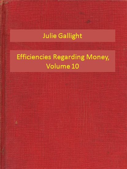 Efficiencies Regarding Money Volume 10 - cover