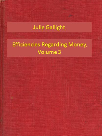 Efficiencies Regarding Money Volume 3 - cover