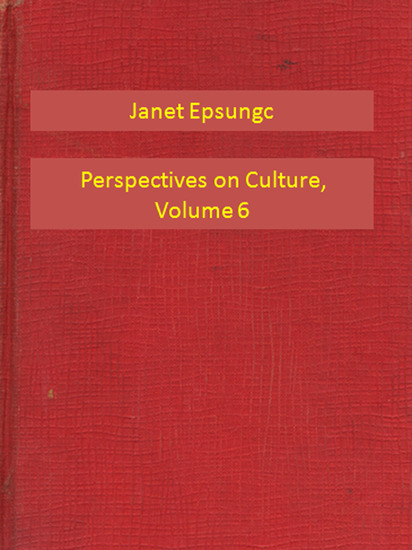 Perspectives on Culture Volume 6 - cover