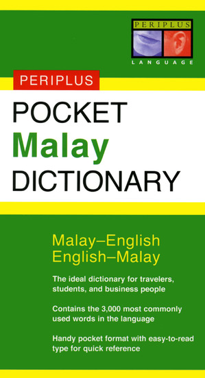 Pocket Malay Dictionary - Malay-English English-Malay - cover