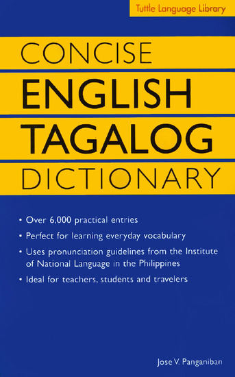 Concise English Tagalog Dictionary - cover