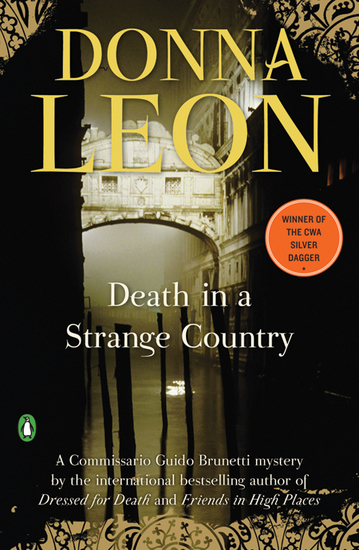 Death in a Strange Country - A Commissario Guido Brunetti Mystery - cover
