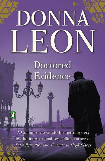 Doctored Evidence - A Commissario Guido Brunetti Mystery - cover