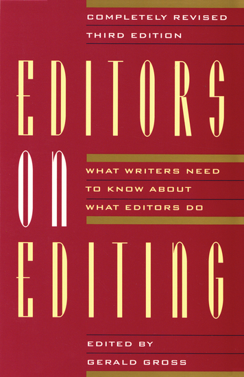 Editors on Editing - What Writers Need to Know About What Editors Do - cover