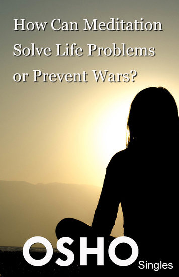 How Can Meditation Solve Life Problems or Prevent Wars? - cover