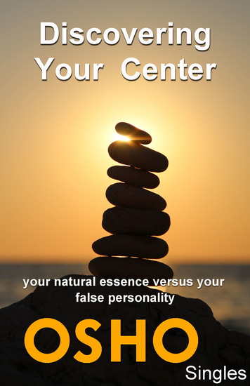Discovering Your Center - your natural essence versus your false personality - cover