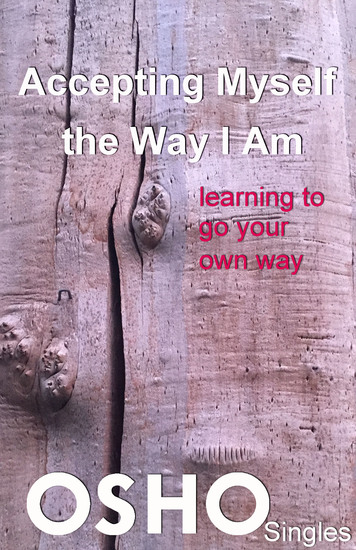 Accepting Myself the Way I Am - learning to go your own way - cover