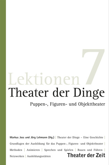 Theater der Dinge - Puppen- Figuren- und Objekttheater - cover