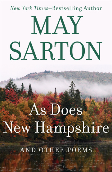 As Does New Hampshire - And Other Poems - cover