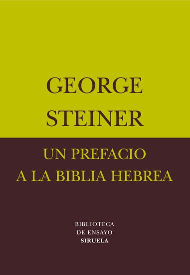 Un prefacio a la Biblia hebrea - cover