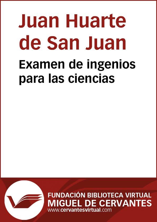 Examen de ingenios para las ciencias - cover