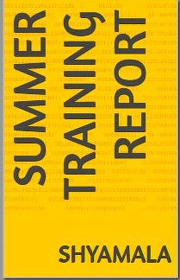 Summer Training Report - cover