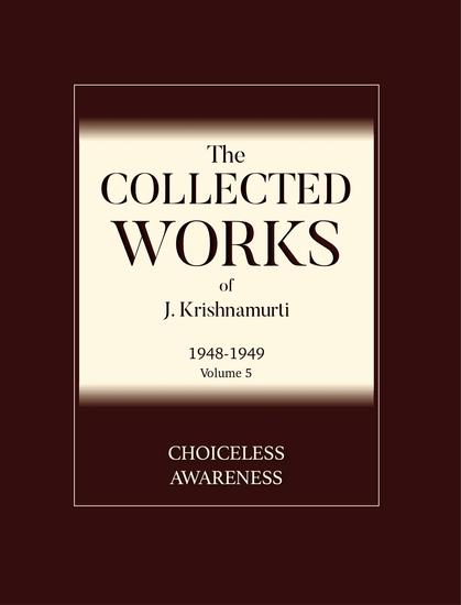 Choiceless Awareness - cover