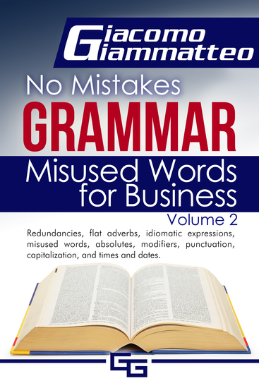Misused Words for Business - No Mistakes Grammar Volume II - cover