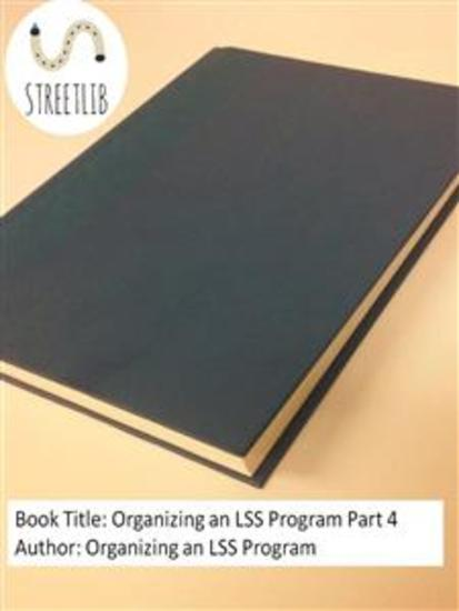 Organizing an LSS Program Part 4 - cover