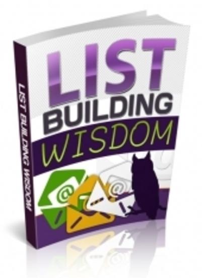 List Building Wisdom - cover