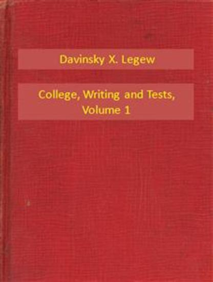 College Writing and Tests V1 - cover