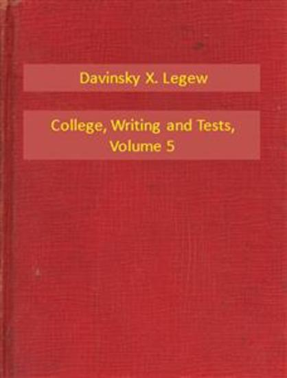 College Writing and Tests V5 - cover