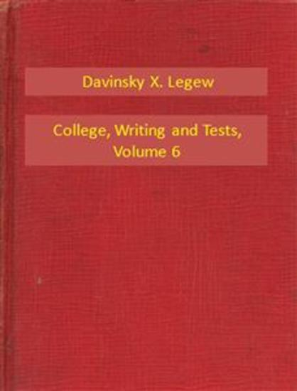 College Writing and Tests V6 - cover