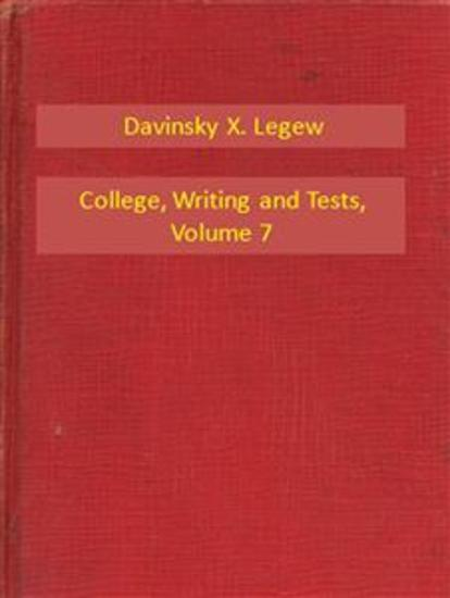 College Writing and Tests V7 - cover
