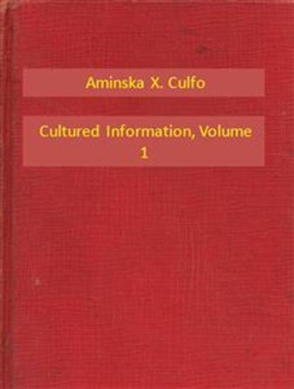 Cultured Information V1 - cover