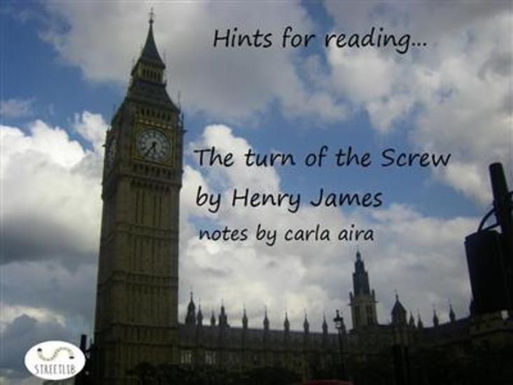 Study Guide The Turn of the Screw - notes - cover