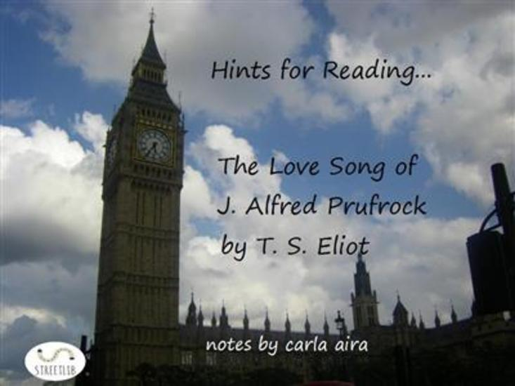 Hints for Reading The Love Song of J Alfred Prufrock by T S Eliot - cover