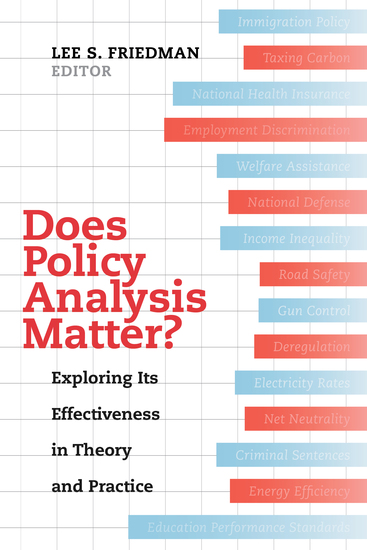 Does Policy Analysis Matter? - Exploring Its Effectiveness in Theory and Practice - cover