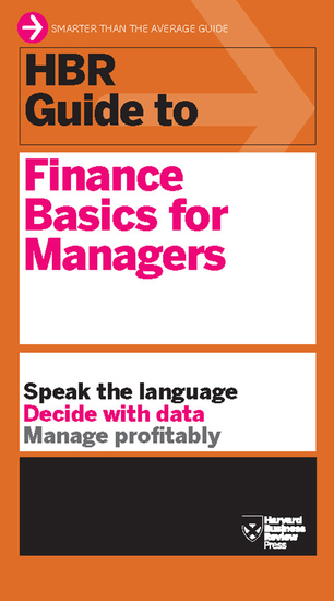 HBR Guide to Finance Basics for Managers (HBR Guide Series) - cover